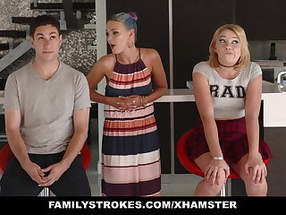 FamilyStrokes - Scavenger Hunt thither sis turns sexual