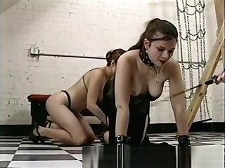Skirt Slaves Dominated By A Merciless Shemale