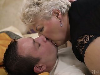 Chunky of age blonde whore more black drawers Astrid gives quite nice BJ