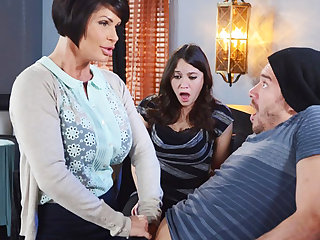 Horny mom make a know-how to her stained pussy