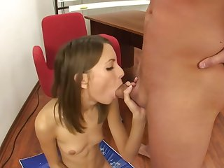 Russian Teen punished take hard bottomless gulf throat and sucking and anal