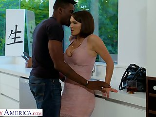 Bodacious busty ashen sweeping Krissy Lynn goes black for the first time
