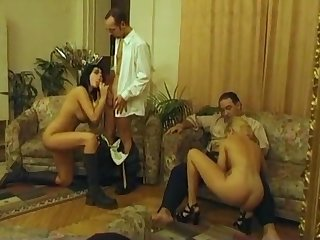 Foursome anal party - Vintage