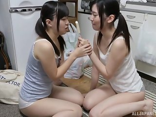 Fruity action with Miyazawa Yukari with the addition of her girlfriend parcelling an icecream