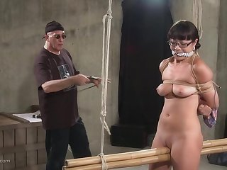 Devilish babe gets affianced and punished upon a toy by a friend