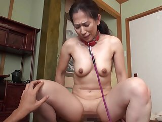 Mature Japanese shows how connected with to the max and ride dick properly