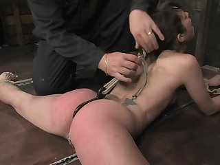 Bound lovemaking accompanying anal carbon copy penetration