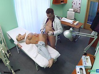 Horny patient Lilith would not speed home till such time as her doctor fucked her