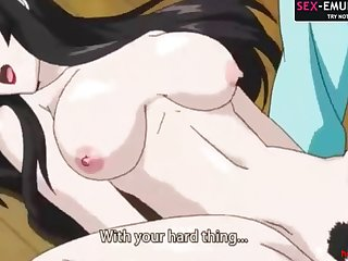 Anime hentai busty grown-up fucks a schoolboy gamer