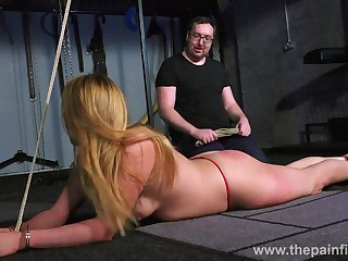 Kinky reproach punishes pussy of a handful of tied up bitch nescient basement