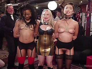 Wild be thrilled by fest apropos public himiliation for Kira Noir increased by Aiden Starr