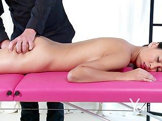 Shy Goddess enjoys her sensual massage