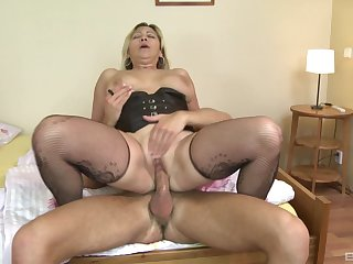 Fruity gets the dick hard with the addition of soaked in her cunt