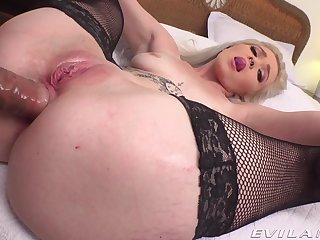 Mediocre POV vaginal and anal for young Kay