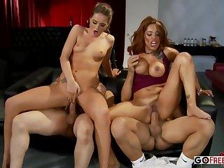 Tori Black And Francesca Le - Foursome Sex
