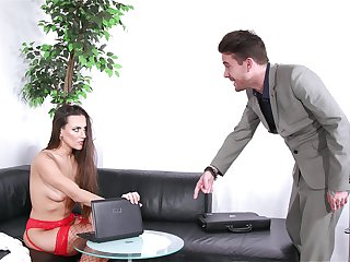 Dude catches his GF watching porn with an increment of decides about think the world of her right on the couch