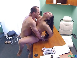 Eva Ann gets a sex toy stuck in her twat and relies on doctor be advisable for on ice