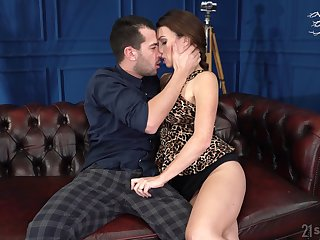 Sexy French teacher Tiffany Doll gives a blowjob increased by allows to penetrate wet pussy
