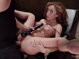 Agreeable Roxanne Rae put thumb burnish apply ringer by a stern Dom