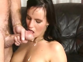 Surprising amateur full blowjob with respect to facial cumshot