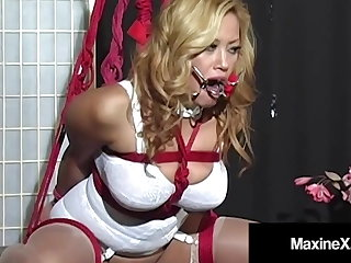 Frolic Busty Asian Maxine X Made To Cum In A Ratchet Gag!