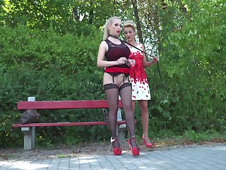 Nasty blonde slut Cherry Kiss enjoys getting rough fucked increased by distressing