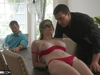 Professional fucker bangs young wifey Bunny Colby headway their way elder husband