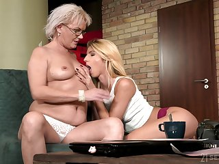 Granny sure loves the lesbian niece horny attraction