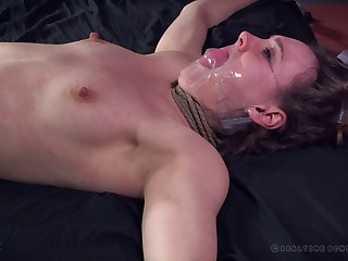 Skinny model Sierra Cirque tied up and spanked by a dirty slut