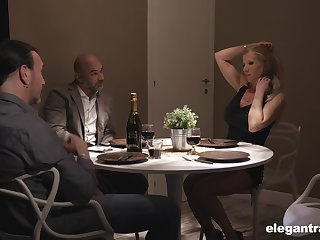 Double date turns procure a humidity group sex with gorgeous European MILFs