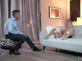 High-class lingerie fuck featuring foxy blonde Bailey Brooke