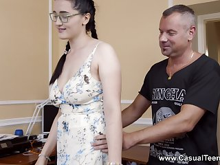 Sexual delight for the Mr Big stepdaughter with potty skils