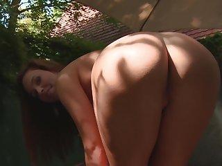Hot pest cutie Jenny Appach drops her miniskirt to masturbate