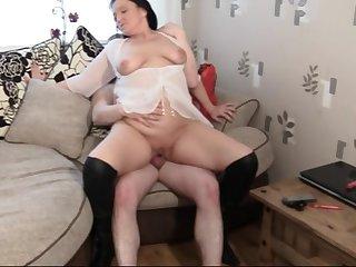 Slutty British mature Succulent Ju loves having sex helter-skelter her neighbor