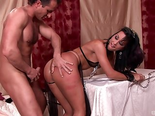 Aroused spoil plays obedient for man's vitalized dong